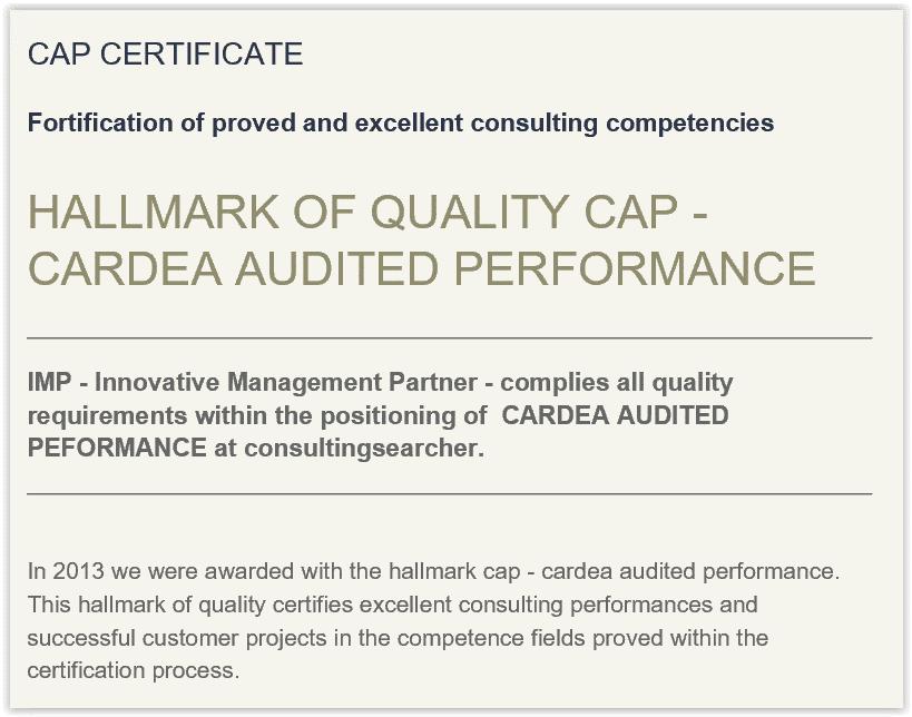 Cardea Cap Certification For Consultants